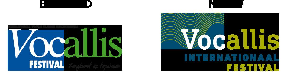 Internationaal Festival Vocallis oude en nieuwe logo