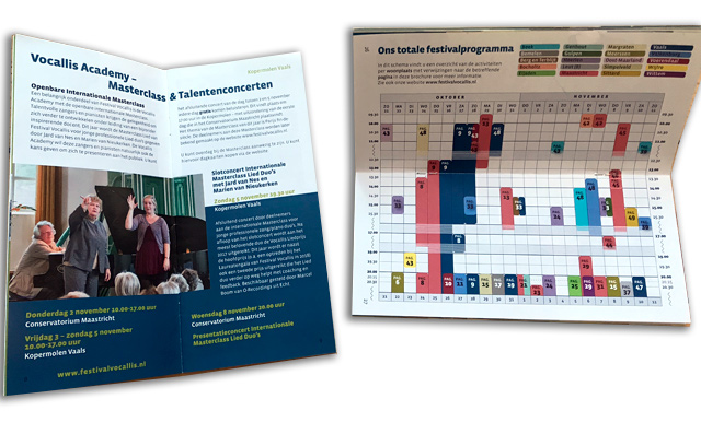 spreads programmaboekjes
