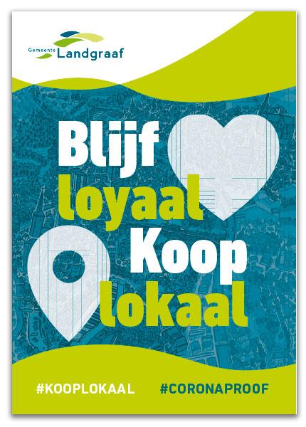 Landgraaf poster winkeliers corona