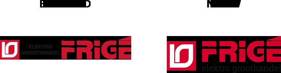 Frigé oude en nieuwe logo