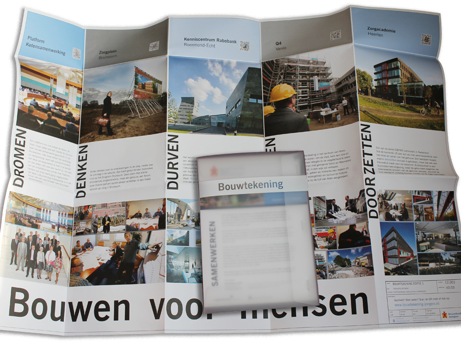 Bouwbedrijven Jongen bouwtekening nr1 Samenwerking, vouwblad + doosje