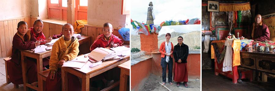 monniken in Upper Mustang, Nepal